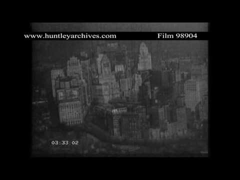 Aerials of New York 1920's.  Archive film 98904