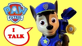 Paw Patrol Mission Chase Talking Dog Review With Pop Up Backpack Surprise Nickelodeon Baby Toys
