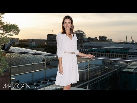 Alessandra Ambrosio INTERVIEW - Marc Cain @ Fashion Week Berlin Spring/Summer 2017