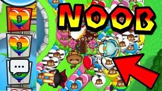 Wizard NOOB Gets DESTROYED! ;) MERRY CHRISTMAS!!! - Bloons TD Battles