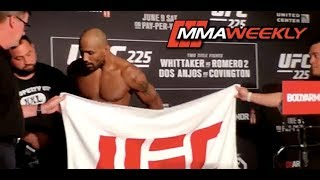 Yoel Romero Misses Weight on First and Second Attempts at UFC 225 Official Weigh-in