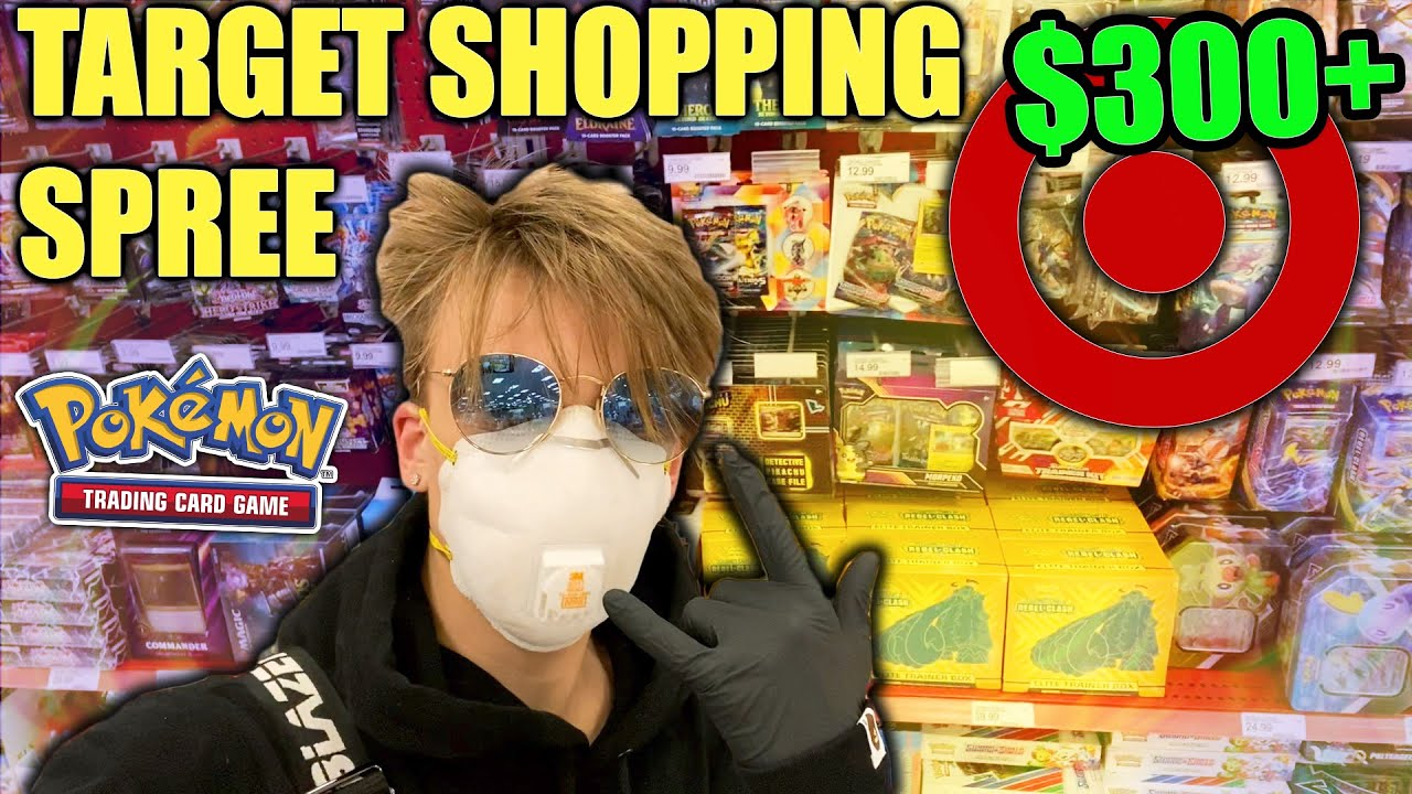 TARGET POKEMON SHOPPING SPREE!! (BUYING $300+ IN THE NEWEST POKEMON CARDS) SwordShield / Rebel Clash