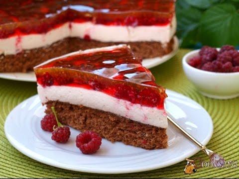 с торт фруктами бисквитный Желейно