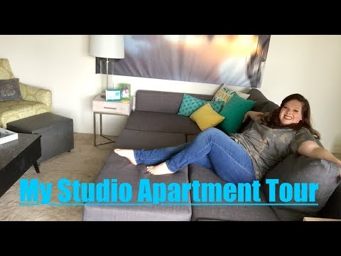 MY STUDIO APARTMENT TOUR! | 475 SQ FT | DAY & NIGHT