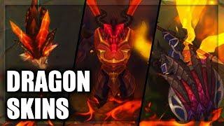 All Dragon Skins Dragon Master Dragonslayer Dragon Trainer Dragon Sorceress (League of Legends)