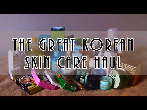 The Great Korean Skin Care Haul