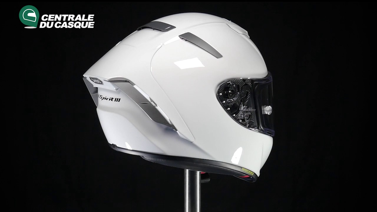 ef2507cd 360° Shoei X-Spirit III Uni White - Centrale-du-casque.com - YouTube