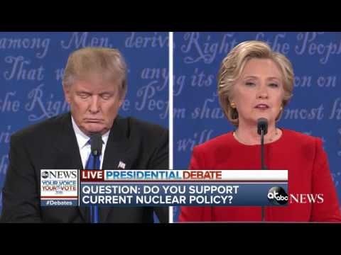 Presidential Debate Highlights | Trump, Clinton Nuclear Weapons Policy