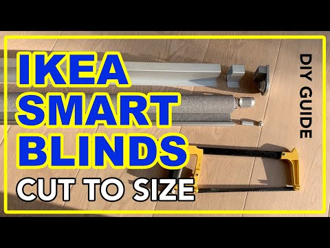 IKEA SMART BLINDS cut to size - how to make them fit your window (more info in description)