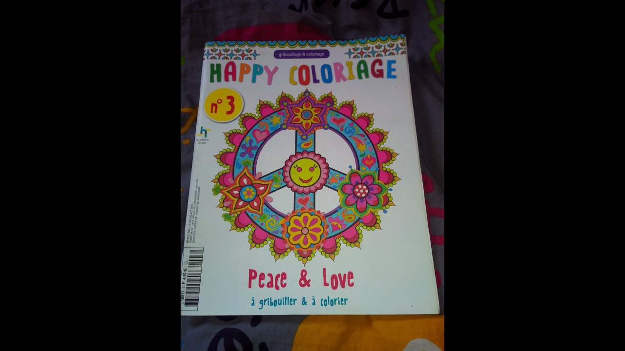 Happy Coloriages Peace Love Youtube