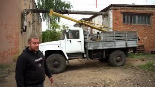 Бурильно-крановая машина на базе ГАЗ 3308