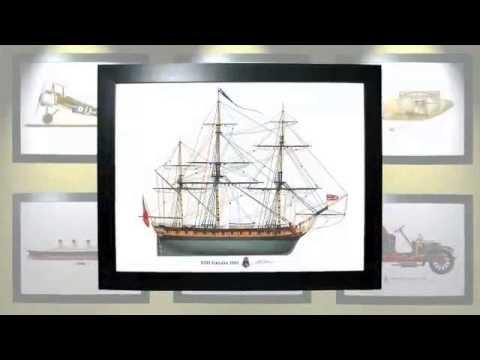 HMS Euryalus British frigate 1803 Profile Print maritime art