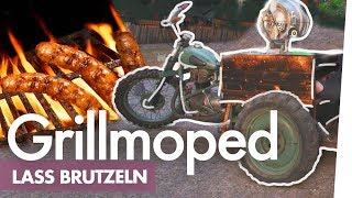 Das Grillmoped – Wurst auf Motorrad im Bierfass braten | Kliemannsland