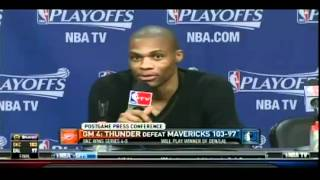 Russell Westbrook Shuts Down Reporter For Asking Stupid Questions In Game 4 Postgame Interview