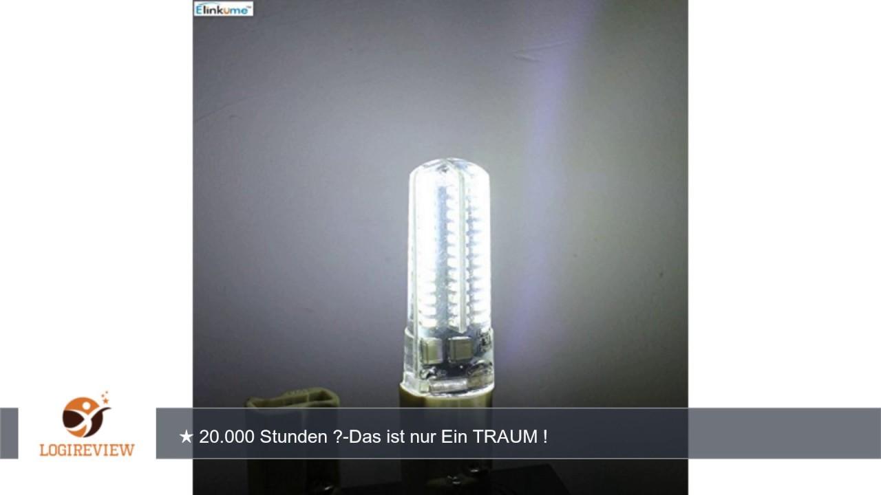 Elinkume 10x G9 Led Lampe 5 5watt Kaltweiss 104 3014 Smd