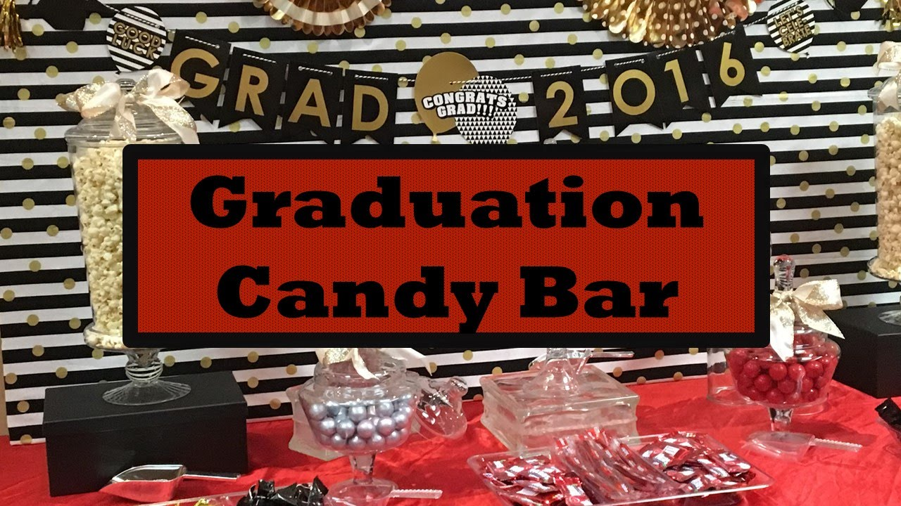 wonderful Graduation Candy Table Part - 16: High School Graduation Party Ideas + Candy Bar