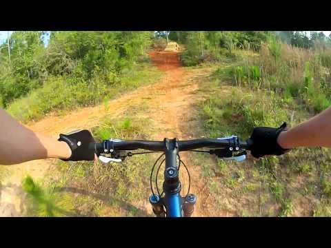 UWF Mountain Bike Trail Game loop Pensacola FL GoPro Hero 2