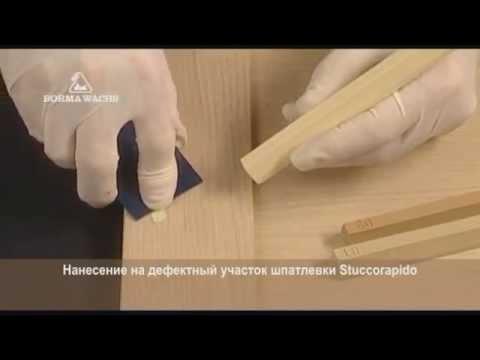 Реставрация мебели восковым карандашом 101