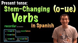 01066 Spanish Lesson Present Tense O Ue Stem Changing Verbs