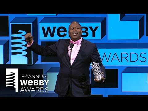 Titus Burgess' 5-Word Speech at the 19th Annual Webby Awards ...