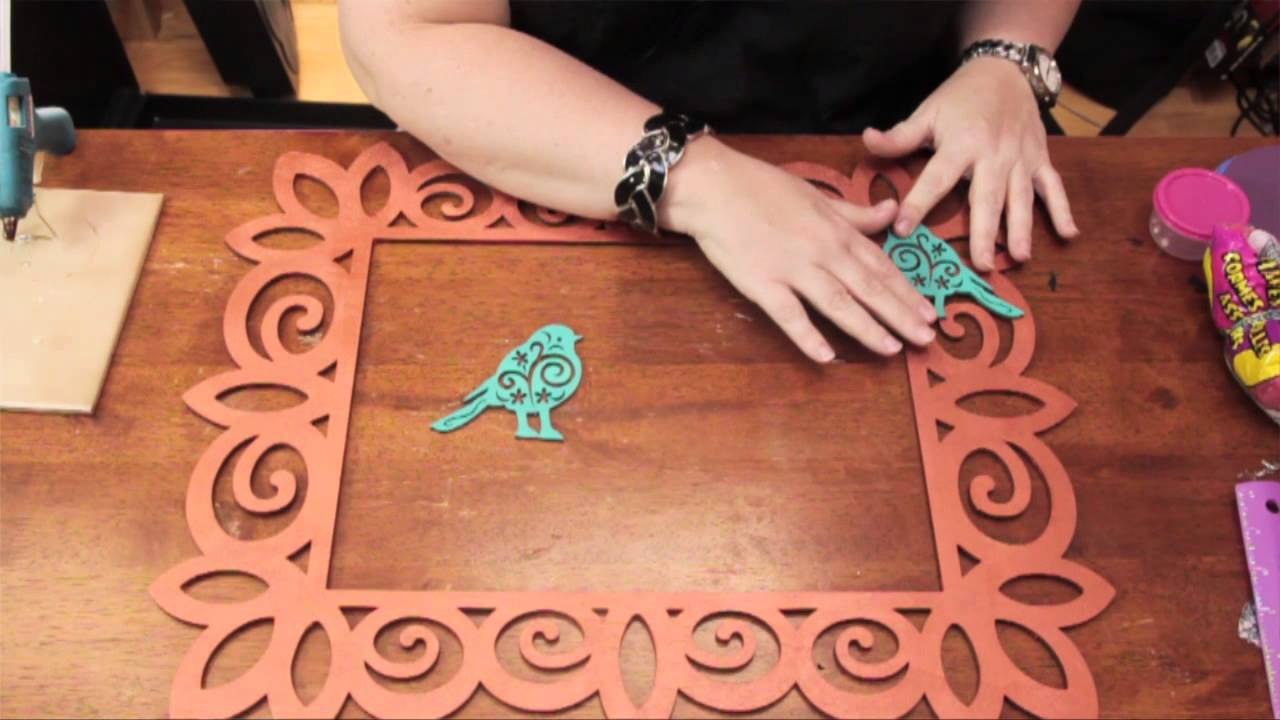 How To Apply Wood Appliques To A Wood Picture Frame Diy Craft