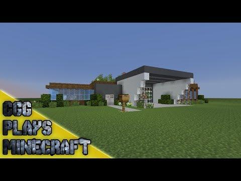 Minecraft Creative: Stort moderne hus!