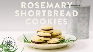 Rosemary Shortbread Cookie Sandwich - Honeysuckle