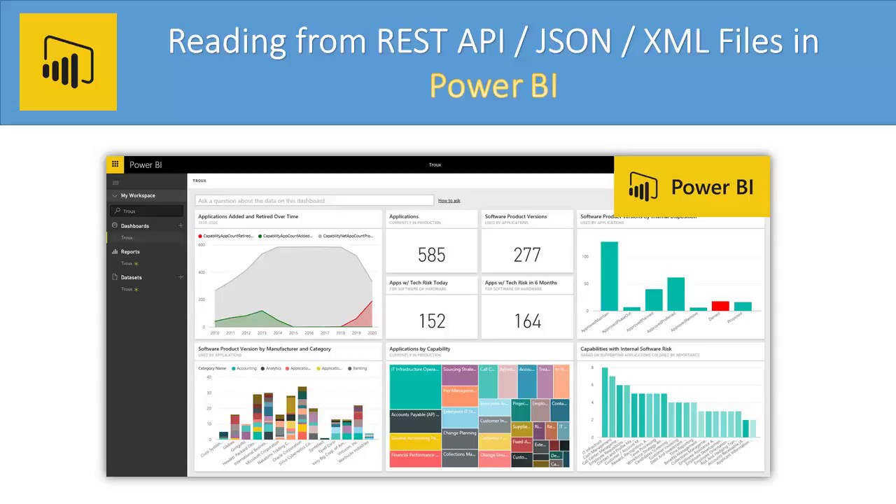 Power BI - Read REST API / JSON File / XML File / SOAP (Pagination, OAuth,  OData)