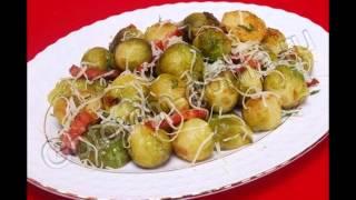 Рецепты овощной закуски:Брюссельская капуста с беконом