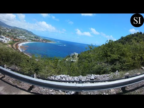 Driving Around St Kitts   St Kitts and Nevis   Caribbean   4K
