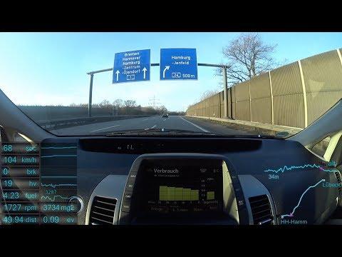 #15 Prius 2 - AUTO BILD Teststrecke Teil 4: Lübeck - Hamburg (Remake)
