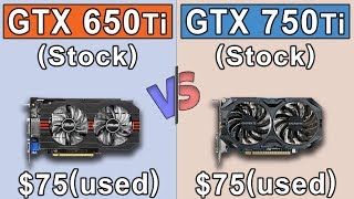 GTX 650 Ti vs GTX 750 Ti | New Games Benchmarks