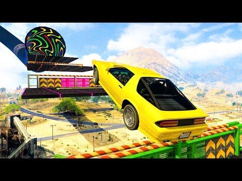 CAR PARKOUR! - GTA 5 Funny Moments #679
