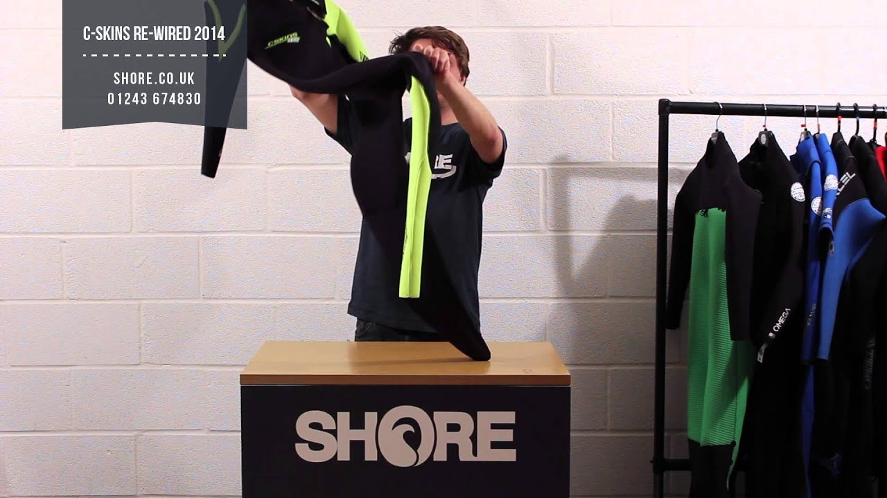 4f03b1c91611 C-Skins Rewired 3 2 Wetsuit 2014 Review and Walkthrough. C Skins Re Wired  Wetsuit - YouTube