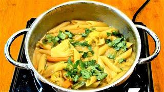 One Pot Coconut Cream Curry Pasta In 10 Minutes   IndoItalian Cuisine   Neetu Suresh