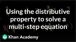 A clever application of the distributive property to solve a multi-step equation | Khan Academy thumbnail