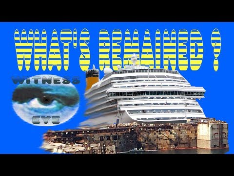 What's remained   Costa Concordia   August 2016