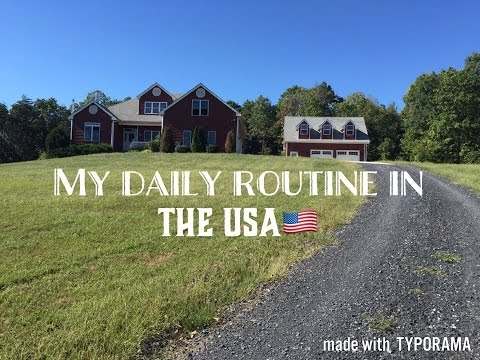 MY DAILY ROUTINE IN THE USA!!!