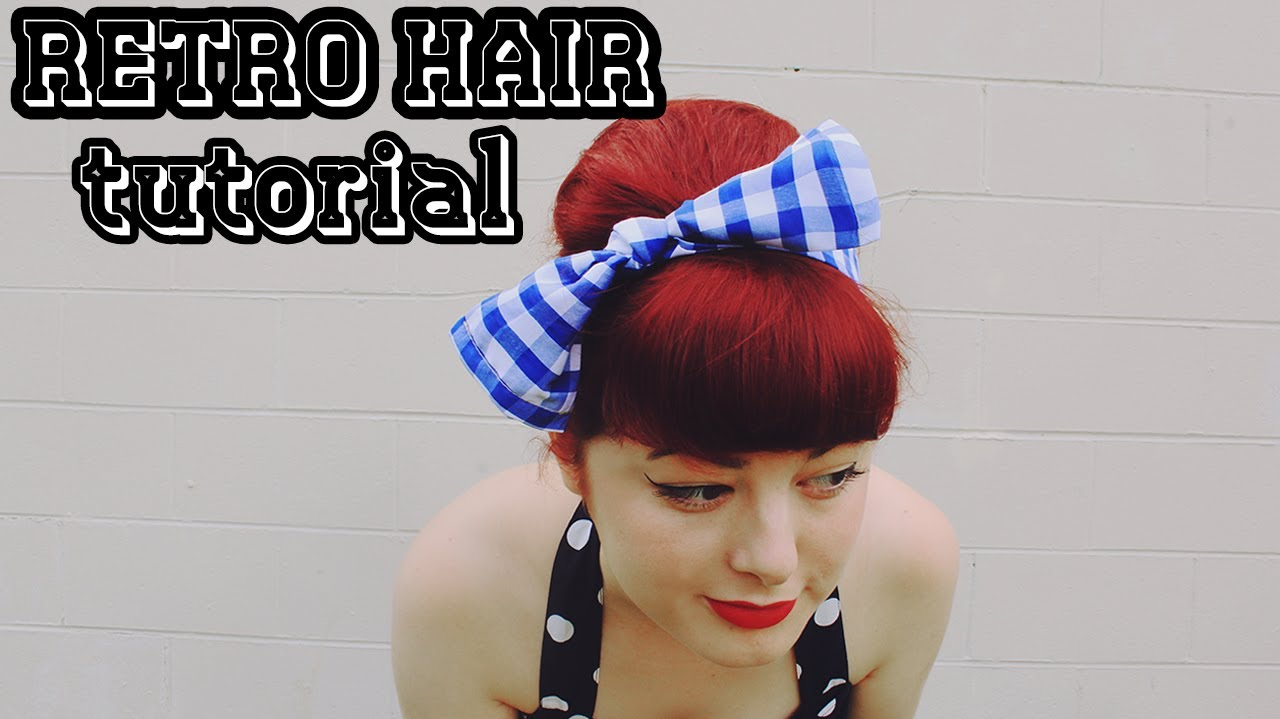 diy retro bow & hairstyle tutorial