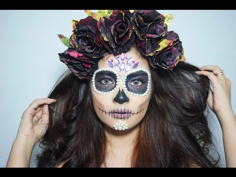 SUGAR SKULL MAKE UP TUTORIAL | Halloween 2016 | Vrichika Erisa