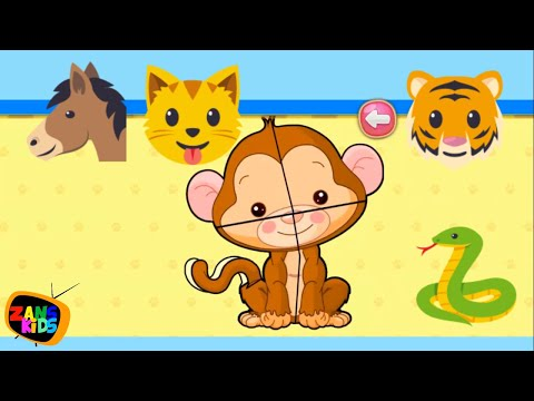 Children Puzzle for Kids Pets (Animal Puzzle) - Gameplay Free Jigsaw Game Learn Animal