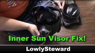 How to Fix Broken Inner Faceshield Sun Visor - Bilt Helmet