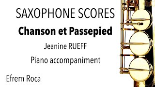 Chanson et Passepied – Jeanine RUEFF – Piano accompaniment
