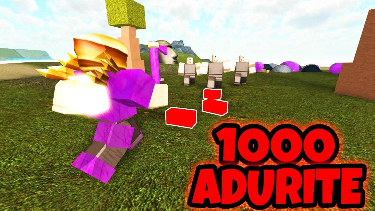 Roblox Booga Booga How To Get Adurite Dropping 1000 Adurite To Noobs Booga Booga Roblox Youtube