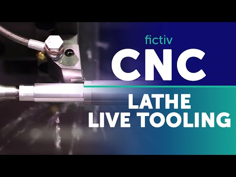 Live tooling on a CNC machine