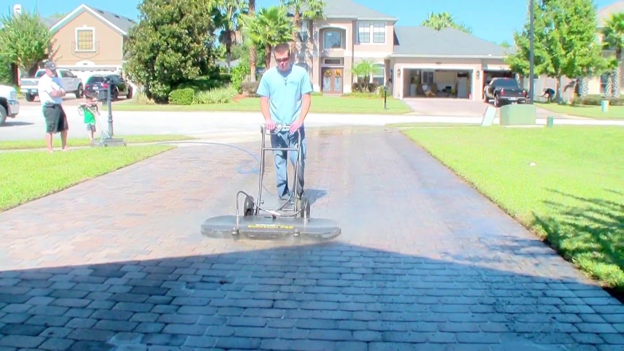 Pressure Washing A 1500 Sq Ft Paver Driveway In 7 Minutes By Dan Swede