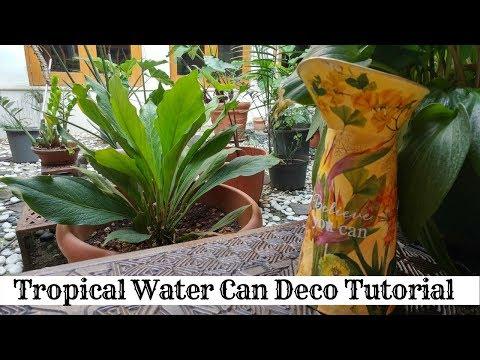 Studio Decoupage Presents Intro to Deco Mixed Media Watercan