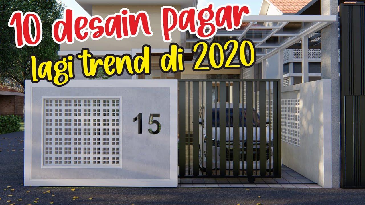 10 DESAIN PAGAR RUMAH MODEL TERBARU 2020 - YouTube