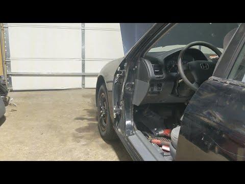 DIY honda civic driver  door removal and install