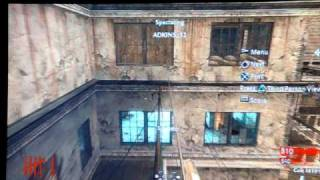 COD5 Nazi Zombies Verrückt how to get out side/ under of map on PS3!